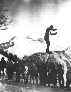 Concours de saut au Planet en 1908