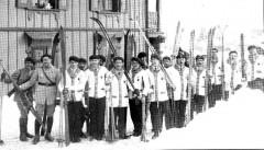Les skieurs lors de la « Semaine Internationale des Sports d'Hiver » en 1924