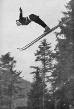 Arsène Luchini qui en sautant 104 mètres devient le premier Français à sauter plus de 100 mètres