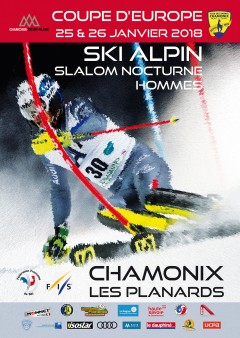 Alpine skiing Men's Slalom 2018 European Cup Chamonix
